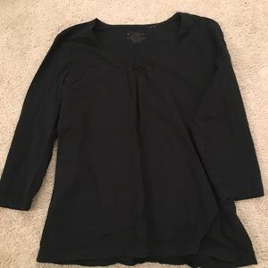 C-Wear by Chico's black tee size 2 (12/14)